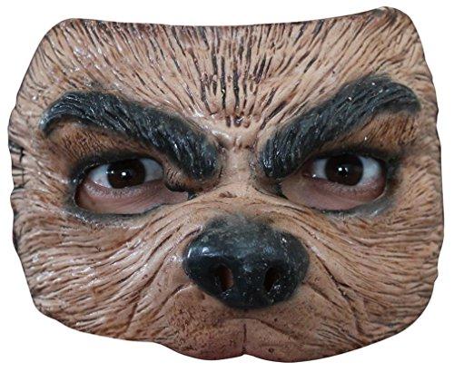 Generique - Wolf Halbmaske für Erwachsene