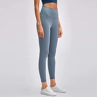 Yoga Pants Women High Waist Tight Elastic Running Fitness Pants,Haze Blue(8)