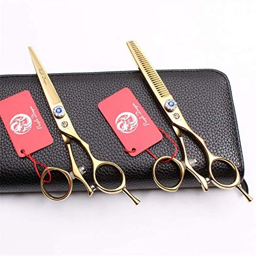 Juego de tijeras de peluquería de 5.5, 6.0 pulgadas, tijeras de corte de cabello profesionales con tornillo ajustable, herramienta de peinado de acero inoxidable, para salón, barberos, 5.5 pulgadas