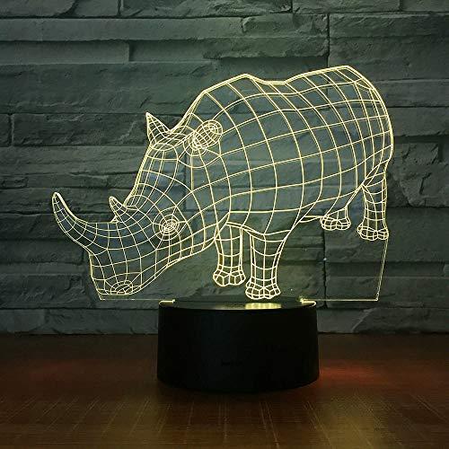Tiernashorn 3D LED Symphony Light Nachtlicht Nachttisch Schlaflicht Bunte Veränderung Kreatives Geschenk Esstisch Schreibtisch Dekoration Berühren