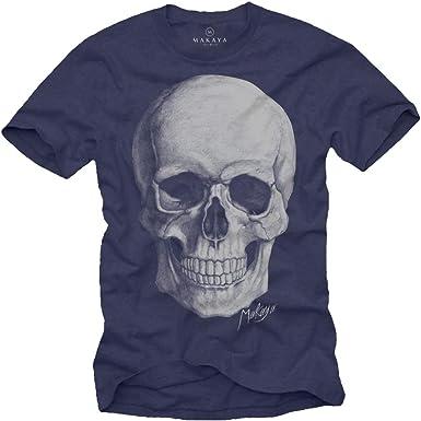 MAKAYA Camiseta Craneo Hombre