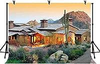 HD 7x5ft暖かい家の背景暖かいライトスコッツデールは観光の背景自然の風景写真LYLS796