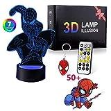 Regalo per ragazzi e bambini, luce notturna 3D con 7 giocattoli di colore per 8-12 anni bambini ragazzi ragazze lampada 3D regalo di compleanno età 7 8 9 10 ragazzi