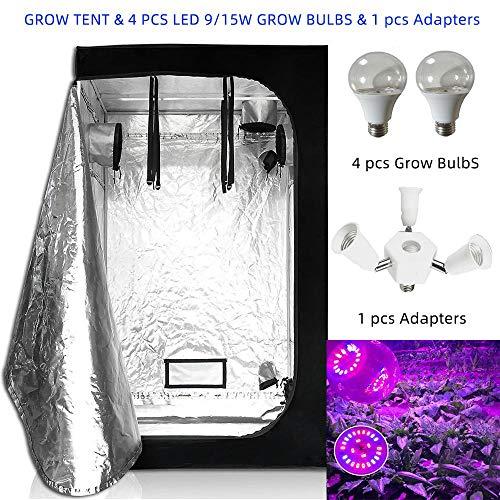 Ameginer Grow Lamp Light E27 Phyto Lamp Full Spectrum & Indoor Hydroponics Grow Carpa para...