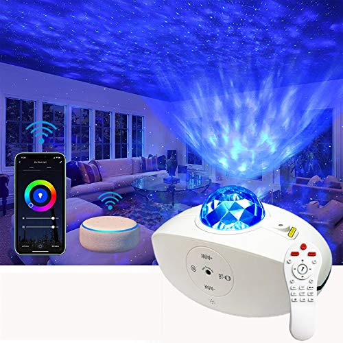 Starry Night Light Projector: 3 in 1 Galaxy Light Projector (Alexa & Google Home Compatible) with Remote Control, Bluetooth Speaker, Baby, Ceiling, Bedroom, Birthday Party