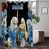 Large Puzzle The Smurfs - Cortina de ducha (167,6 x 182,8 cm, 100% poliéster)