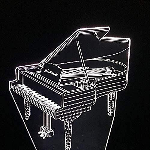 Spezial- & Stimmungsbeleuchtung Schreibtischlampen Für Kinder Piano Led Usb Tischlampe Sieben Farben Schalter Visuelles Licht Farblicht Fernbedienung Und Touch Style