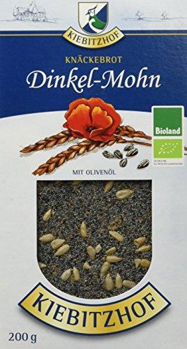 KIEBITZHOF Dinkel-Knäckebrot Mohn, 6er Pack (6 x 200 g)