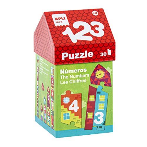 APLI Kids- 1, 2, 3 Puzle Casita, Multicolor (14806) (Juguete)