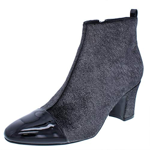 Ivanka Trump Womens Lundy 3 Closed Toe Ankle Fashion Boots, Silver, Size 9.5