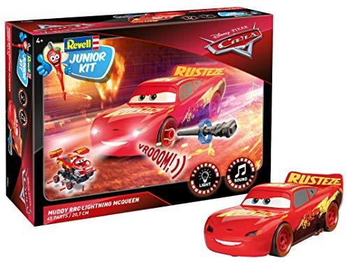 Revell Junior Kit 864 Disney Cars 3, mit Licht & Motorengeräuschen 4 Lightning McQueen Crazy 8 Race, bunt, 20,7 cm
