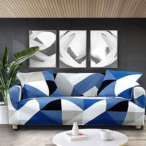 WXQY Funda de sofá elástica con Estampado Floral Fundas de sofá Fundas de sofá para Sala de Estar Sofá de Esquina Toalla Funda de sofá Funda para Muebles A17 4 plazas