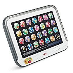 Musical toy tablet with lights, sounds and phrases Smart Stages technology—learning changes as baby grows with 3 levels of play Off; r fresh songs, phrases and sounds 100+ songs, sounds, tunes and phrases introduce baby to letters, first words, anima...