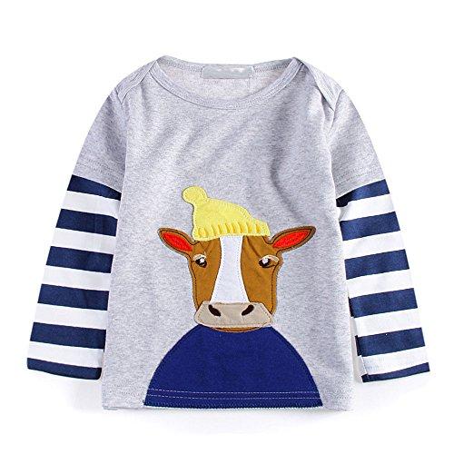 Snakell Baby Junge Mädchen Drucken Bluse Kleinkind mit Langen Ärmeln Freizeit Sweatshirt T-Shirt Kinder weiche lässige Top Kleidung Kinder Baumwolle Oberteil Pullover Größe