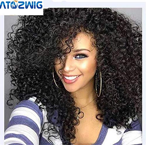ATOZWIG Kinky Curly Afro Wig 22 Long Kinky Curly Wigs for Black Women Black Hair Wig African American Synthetic Cheap Wigs for Women