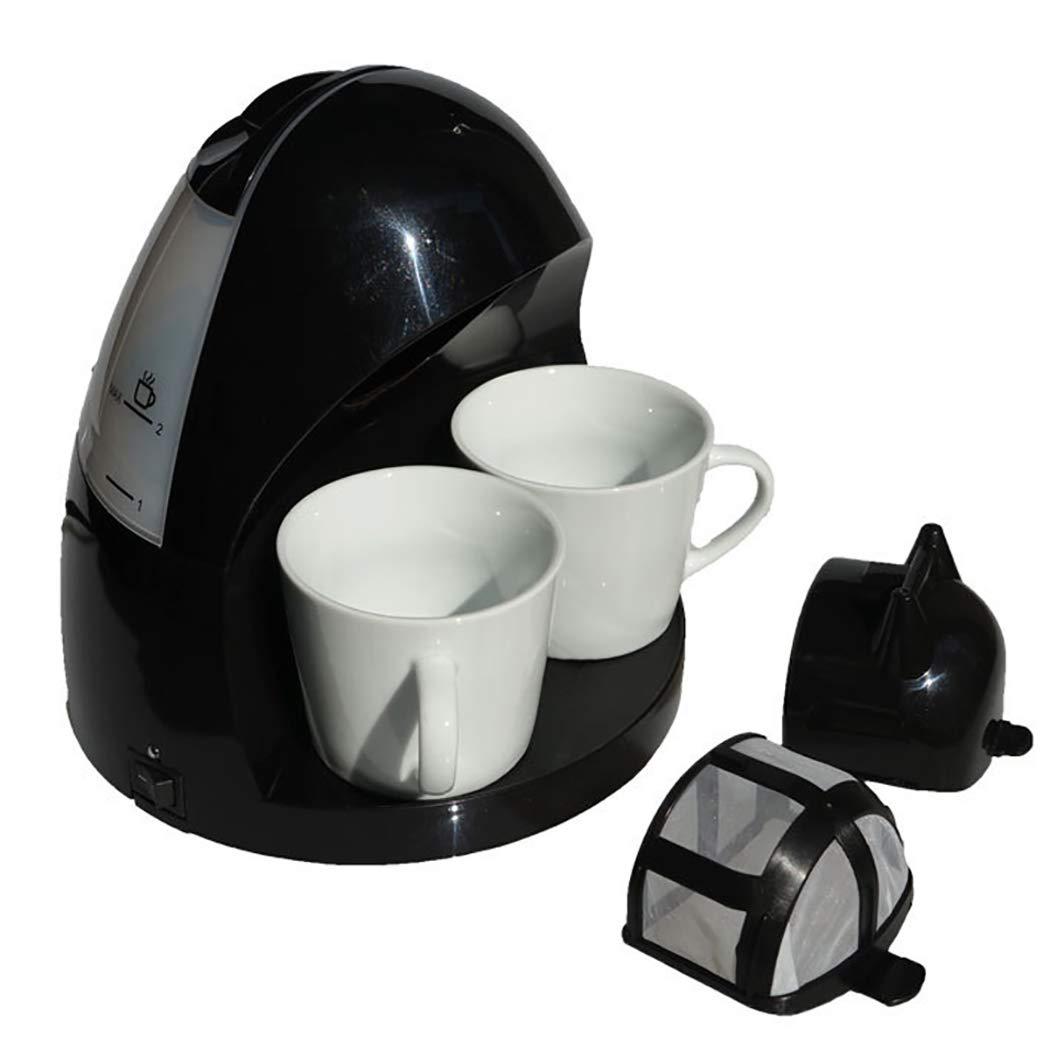 DPPAN Maquina de Cafe 2 Copas, Cafetera Servicio Individual con Filtro y Apagado automático,Black: Amazon.es: Hogar