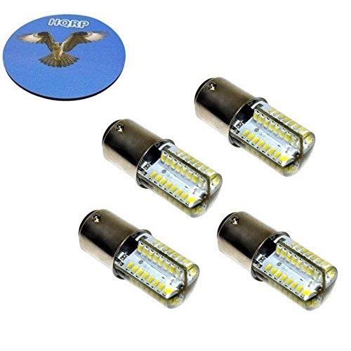 HQRP Cuatro bombillas LED para máquinas de coser Kenmore (Sears) 385.11101 385.12102 385.12514 385.12714 385.15510; Kenmore 117.959 158.104 158.141 158.161 158.331