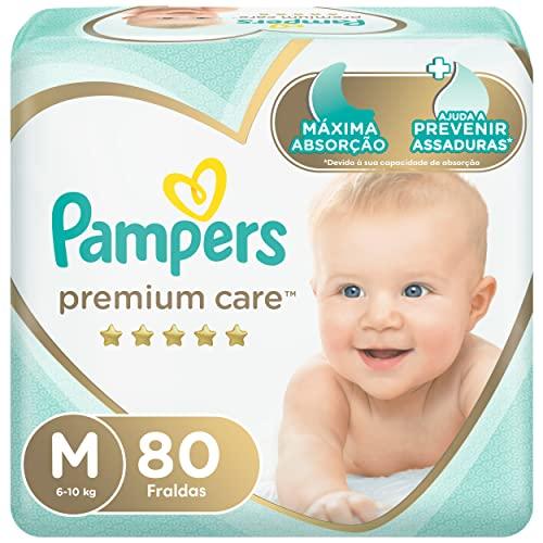 Fralda Pampers Premium Care Jumbo, M, 80 Unidades