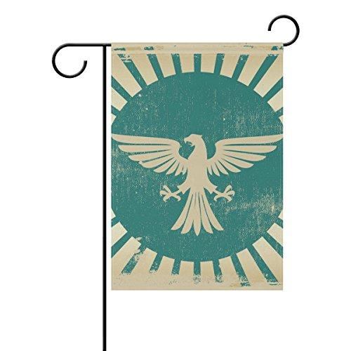 MUMIMI Adler Fahne Flagge 12x 18cm, doppelseitig, tolle Bilder Motiv