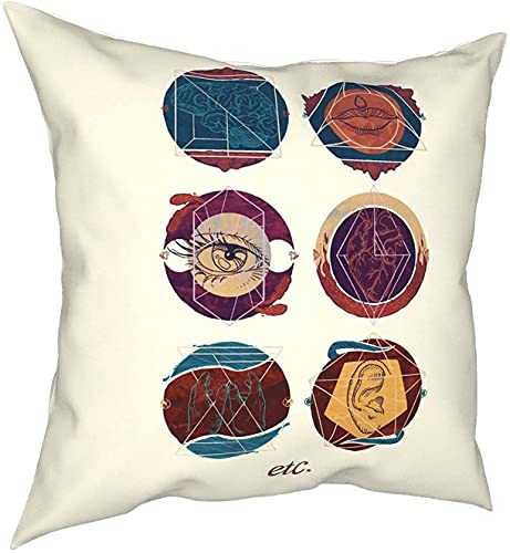 Etc Expressive Therapies - Funda de almohada cuadrada para toalla de cara, 45 x 45 cm