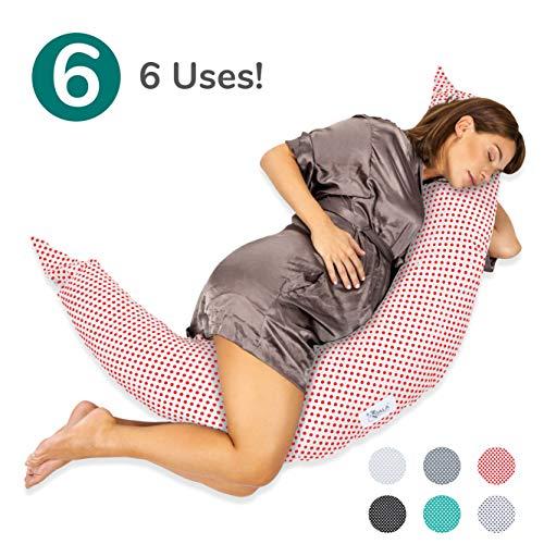 Koala Babycare® Almohada para Embarazadas para Dormir Cojin Lactancia –Soporte del cuerpo de la mama y del bebé – Para bebe que puede ser utilizado como cuna y reductor de cuna - KHUGS