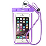 EOTW Funda Impermeable IPX8 Universal para Deportes acuaticos para iPhone XS MAX XR 8 7 6 Plus/BQ Aquaris/Huawei P30 P20 P10/Samsung S8 S7 y Otros Móviles hasta 7 Pulgadas. (Púrpura)