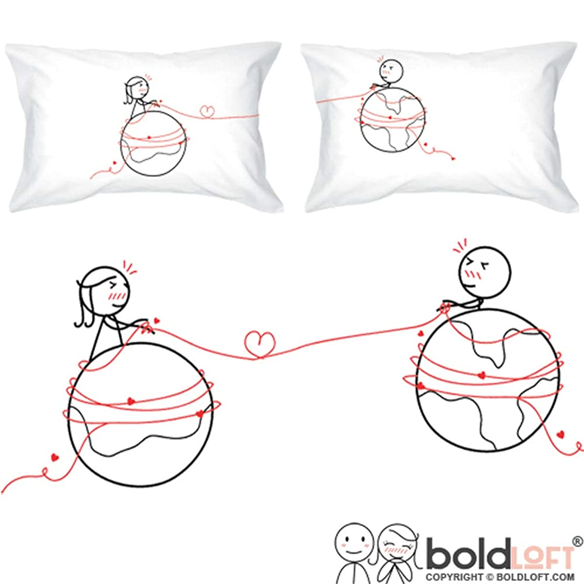 BoldLoft You are Worth Every Mile Couples Pillowcases-Long Distance Relationships Gifts, Long Distance Gifts, His and Hers Gifts for Him, Her, LDR Couples, I Miss You Gifts