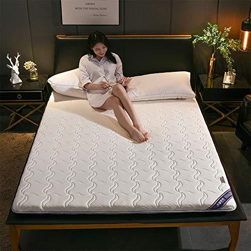 WZQ Colchón de Dormitorio para Estudiantes Engrosamiento Plegable Mantener Caliente Tatami Doble Colchones King Queen Tamaño Dormitorio/Dormitorio/Tatami,Blanco,180x200cm(71x79in)