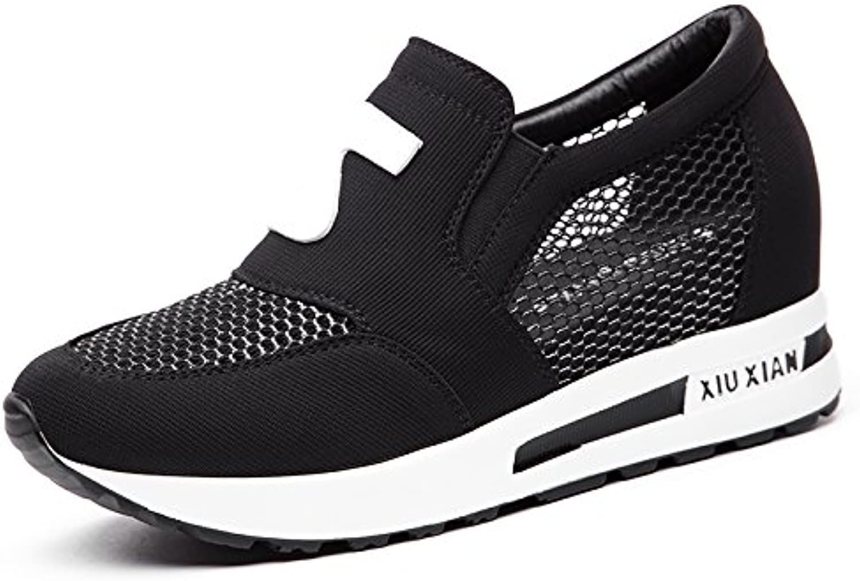 HBDLH Damenschuhe atmungsaktiv bequem Drinnen Frauen Schuhe Frühling Wild Ohne Schuhe Mesh Sommer Hohl Atmungsaktiv Sport Casual Schuhen.