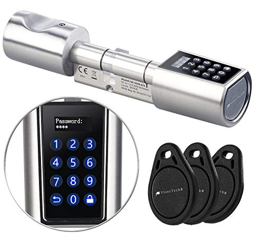 VisorTech Türschloss: Elektronischer Tür-Schließzylinder, Transponder, Code, Bluetooth & App (Elektronisches Schloss)