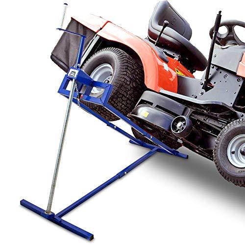 BITUXX® Hebevorrichtung Reinigungshilfe Rasentraktor-Heber Aufsitzmäher Mowerlifter 250kg Belastung +40° Neigung +100cm Auffahrbreite