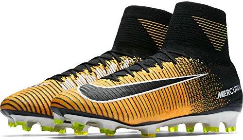 Nike Mercurial Superfly V Hartbodenschuh für Erwachsene 45.5 Fußballschuhe (Hartboden, Erwachsene, Männer, Schwarz, Orange, Muster)
