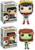 Funko POP! DC Bombshells: Wonder Woman + Poison Ivy – Stylized Vinyl Figure Set NEW...