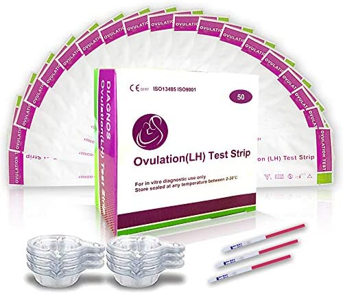 50 Pruebas De Ovulación 20 Miu/Ml, Tiras De Prueba De Ovulación, Tests de Ovulación 50 (Lh) Sensible y Preciso Resultados