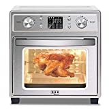 R.N.A 19 QT XL Convection Oven Countertop w/Rotisserie & Dehydrator, Digital Display, Ultra Quiet, 7 Accessories & Cookbook Included, Stainless Steel, 14.4'x10.5'x15'
