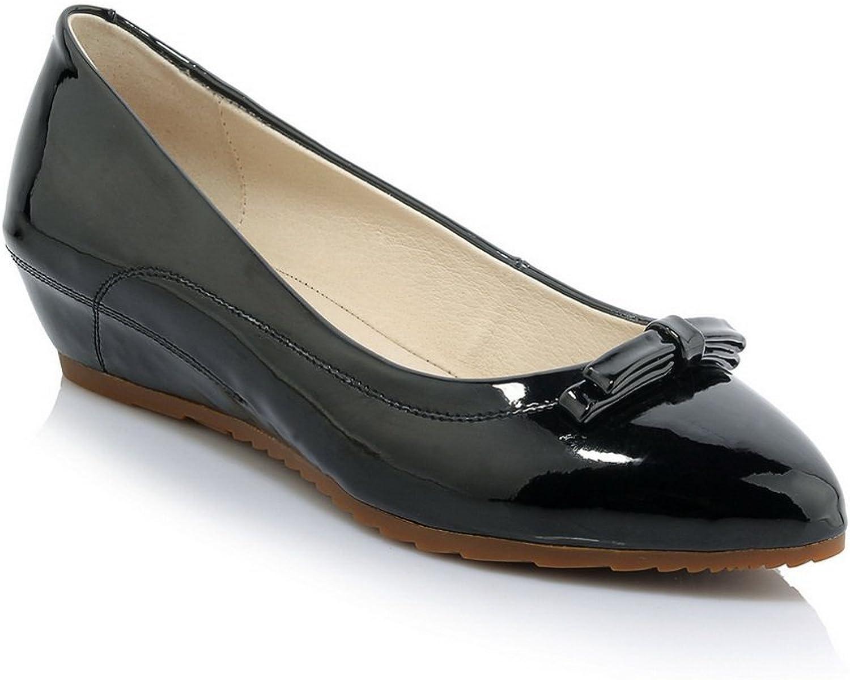 AdeeSu Womens No-Closure Urethane Pointed-Toe Urethane Pumps shoes SDC03757