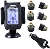 TireTech On Wireless Tire Pressure Monitoring System w/ Brass Transmitters 0-232 psi (6)