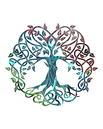Celtic Tree of Life - Wall Decor Art Print on a white background - 8x10 unframed Celtic-themed print - great gift for people of Celtic descent or those interested in the culture