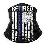 Oficial de policía Retirado, Regalo de línea Azul Fina, Bandera Estadounidense, Polaina de Cuello sin Costuras, máscara Facial, pasamontañas, Bufanda, Bandana