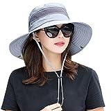 Unisex Sun Protection Hat Women Summer Bucket Cap Golf Outdoor Packable Fishing Hiking Gardenning Headgear