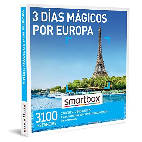 Smartbox - Caja Regalo Amor para Parejas - 3 días mágicos por Europa - Ideas Regalos Originales - 2 Noches con Desayuno para 2 Personas