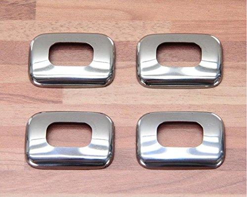 4 Chrom Türpinn Umrandung aus Edelstahl Dacia Logan MCV Sandero Stepway Duster