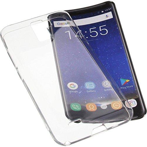 foto-kontor Tasche für Oukitel K5000 Gummi TPU Schutz Handytasche transparent