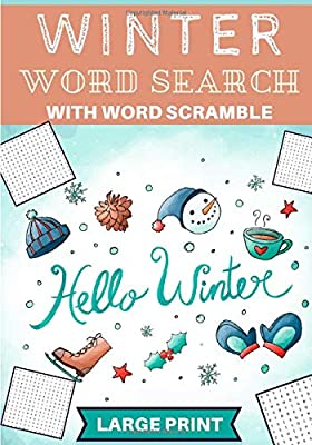 Winter Word Search: Practice Puzzle Book | 60 puzzles For Adults and Kids | Find more than 600 words on The Vocabulary of Spring Acitivities, Food, ... | Vacation Gift for Friends and Family.