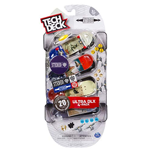Tech Deck Ultra DLX 4 Pack 96mm Fingerboards - Stereo 20th Anniversary Special Edition