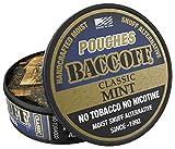 BaccOff, Classic Mint Pouches, Premium Tobacco Free, Nicotine Free Snuff Alternative (5 Cans)
