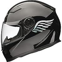 Calcomanías adhesivas para casco de moto Angel Wings (par), 80 mm x 40 mm, color plateado