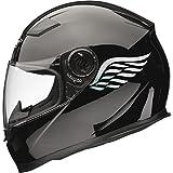 Calcomanías para casco de moto Angel Wings, 2 unidades, 80