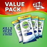 Dettol Salviette disinfettanti antibatteriche per la pulizia delle superfici, confezione multipla da 4 x 72 – totale 288 salviettine