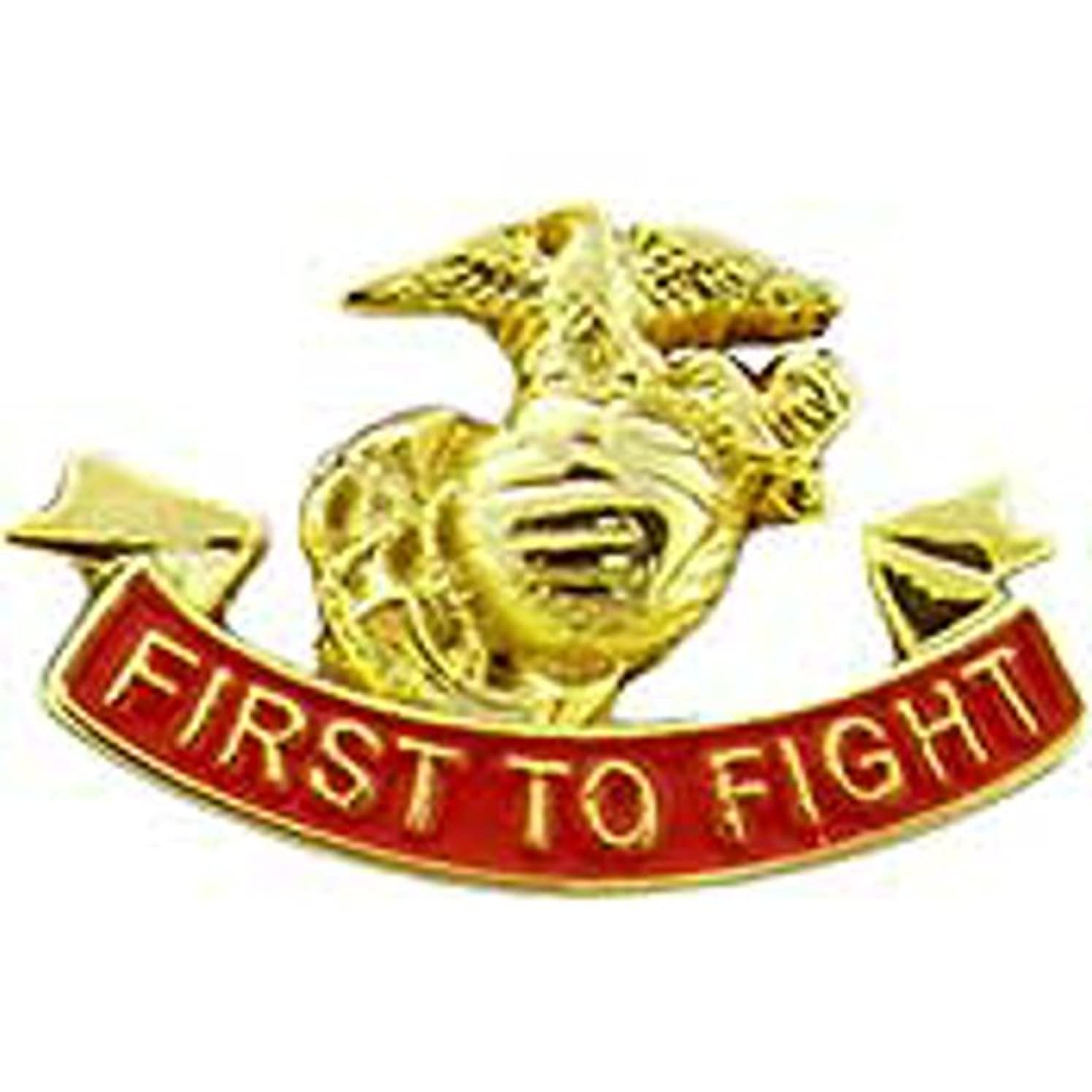 EagleEmblems P14248 Pin-Usmc,First to Fight (1'')